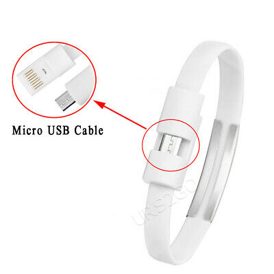 $8.88 • Buy Micro USB Data Cable Bracelet Silicone Charger Charging Sync Cord For SmartPhone