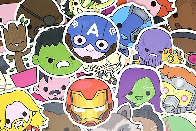 $7.99 • Buy 100 Cute Superhero Avengers Marvel Stickers Pack For Hydro Flask Laptop Suitcase