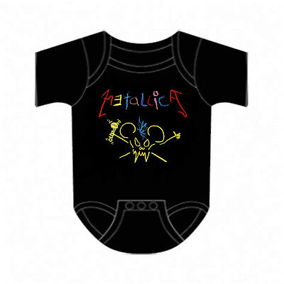 £15.04 • Buy METALLICA Cd Lgo CRAYON MOUSE SCARY GUY Official Baby ONE PIECE Shirt 6 Mths New