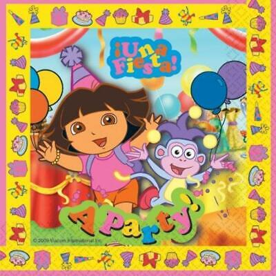 Dora The Explorer Una Fiesta Party Napkins Pack Of 16 -  Hard To Find • 2.95£