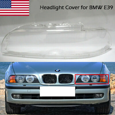 $42.29 • Buy 1X Left Side Headlight Lamp Lens Covers Clear For BMW 5 Series E39 528i 540i