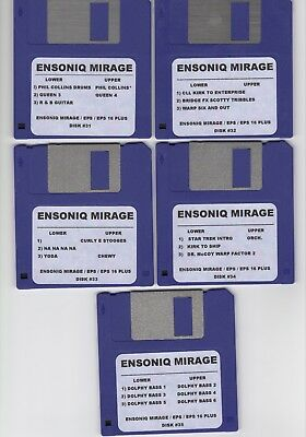 $60 • Buy Ensoniq Mirage New Disk Set #3 Mirage / Eps16+/ Complete Set