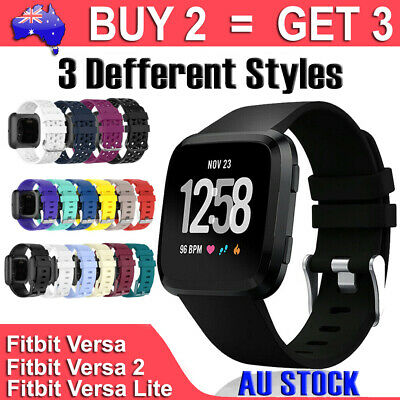 AU6.49 • Buy For Fitbit Versa Band /2/ Lite Silicone Strap Wristband Replacement Sports Bands