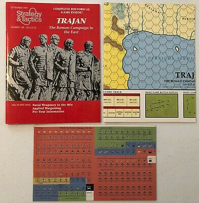Strategy & Tactics #145: Trajan: Roman Campaign In The East (Sep 1991) Unpunched • 20$
