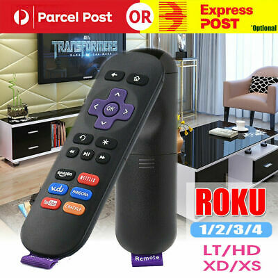 AU8.99 • Buy Replacement Infared Remote Control For ROKU 1 2 3 4 Telstra TV & TV2 LT HD XD XS