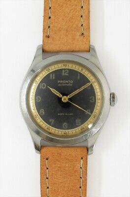 $ CDN2278.76 • Buy PRONTO Two Tone Arabic Numerals Dial Automatic Vintage Watch 1940's Overhauled