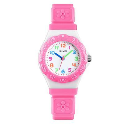 £11.99 • Buy Skmei Kids Boys Girls Children First Watch Easy Tell Time Analogue Learning Pink
