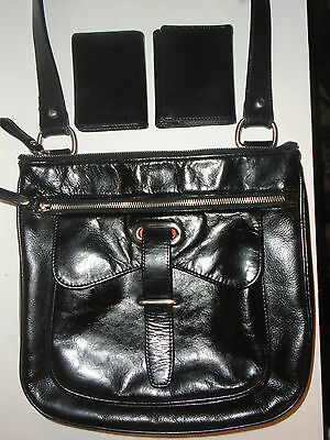 $ CDN122.22 • Buy  Danier Black Patent Leather Side Saddle  X-body Bag Purse  $268 Retail