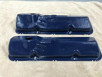 $60 • Buy Ford 390 428 Fe Oem Pent Roof Fe Steel Valve Covers Cj Big Block 427 406 410 352