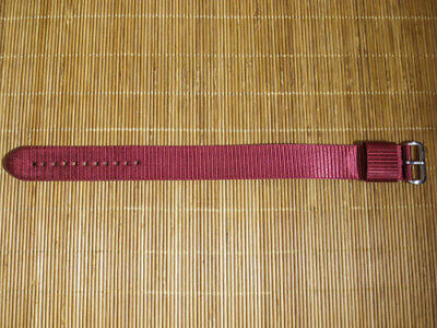 $15.99 • Buy Maratac 22mm Maroon Red Nylon Military Style Watch Band Watchband Strap - NEW