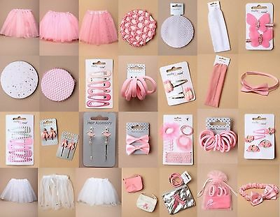 Ballet Accessory Hair Grip Tutu Bun Net Elastic Bag Purse Pink White Wholesale • 5.95£