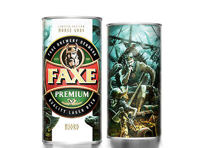 $ CDN13.35 • Buy Faxe Beer Can Norse Gods Part III Njord Volume 900ml Limited Edition Open Bottom