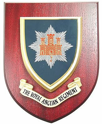 The Royal Anglian Regiment Hand Made In The Uk Regimental Mess Plaque • 19.99£