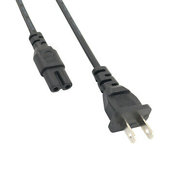 6ft 2 Prong AC Power Cord Cable For Xbox One S Slim Game Console, PSP, PSV • 5.39$