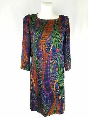 Caroline Charles Silk Patterned Dress Size 14 • 185£