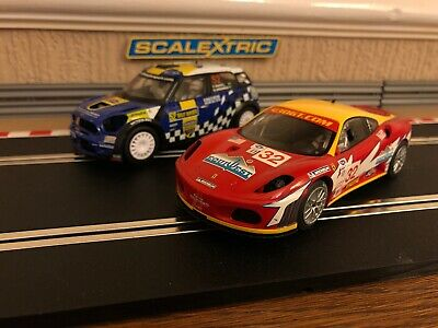Scalextric Ferrari F430 & Mini Countryman  Fully Serviced & New Braids Fitted • 38£