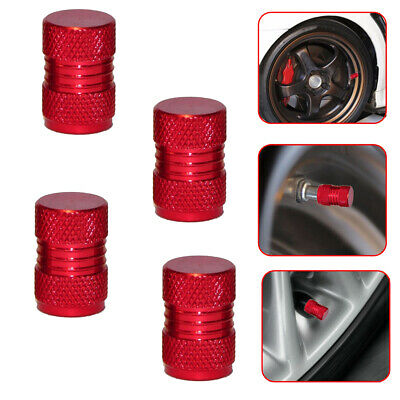 $ CDN1.81 • Buy 4x New Red Metal Tyre Valve Alloy Dust Caps Car Cover Motorbike Bike Van Parts