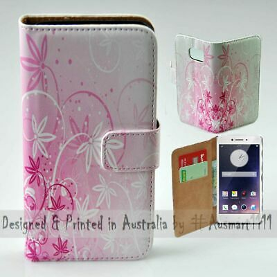 AU14.98 • Buy For OPPO Series - Pink Floral Theme Print Wallet Mobile Phone Case Cover