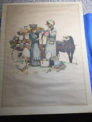 $ CDN624.15 • Buy Norman Rockwell Lithograph 'Country Pedlar' Limited Edition 1962 Brown & Bigelow