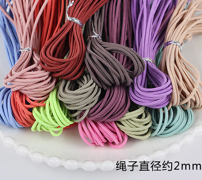 $ CDN3.04 • Buy 5m 2mm Elastic Rope Colorful Rubber Band For Diy Girl Hair Accessories