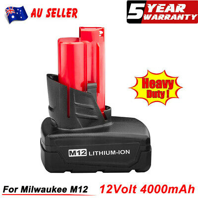 AU26.99 • Buy 12V For Milwaukee M12 B6 Lithium Battery XC 4.0 48-11-2440 48-11-2402 48-11-2401