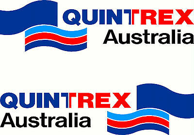 AU25 • Buy Quintrex, 4 Colour, Boat,  Tacklebox, Small Mirrored Sticker Decal Set Of 2