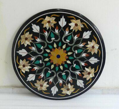 24 X24 Pietra Dura Italian Marble Top Dining Table Inlay Stone Living Room Decor • 914£