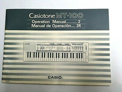 $13.99 • Buy Casiotone MT-100 Electronic  Musical Keyboard Operation Manual Instruction Casio