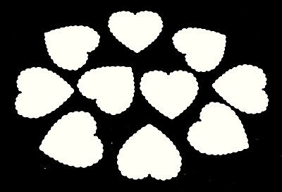 £3.49 • Buy 50 Large Card Love Hearts Valentine Table Decorations Tags White 4.7cm