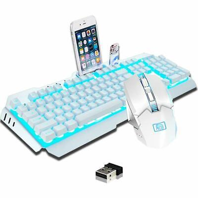 AU72.89 • Buy AU Wireless Rechargeable Mechanical Feel Gaming Keyboard +Mouse Set LED Backlit