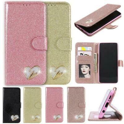 $ CDN11.05 • Buy Leather Wallet Stand Sparkle Design Phone Case Samsung Galaxy S8+ S7 S10 S9 J5
