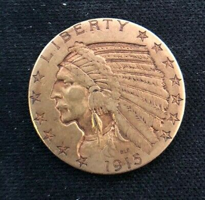 $ CDN937.65 • Buy US Mint 1915-S $5 Gold Half Eagle Indian Head, Better Date, Low Mintage Coin