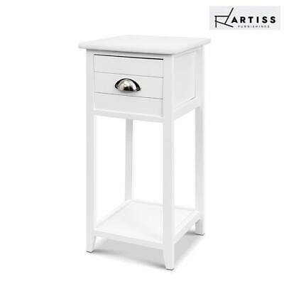 AU48.45 • Buy Artiss Bedside Tables Drawers Side Table Cabinet Nightstand White Vintage Unit