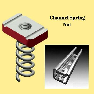 AU9.80 • Buy Channel Nut Long Spring M8 Zinc Plated (Pack Of 10)
