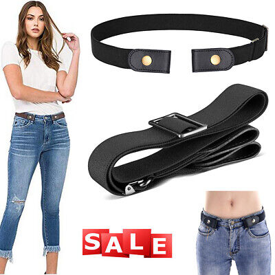 $5.59 • Buy Buckle-free Elastic Invisible Belt For Jeans No Bulge No Hassle Genuine Leather