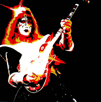 KISS ACE FREHLEY 'Love Gun' Limited Number Edition ART PRINT 20  X 20  • 30.99£