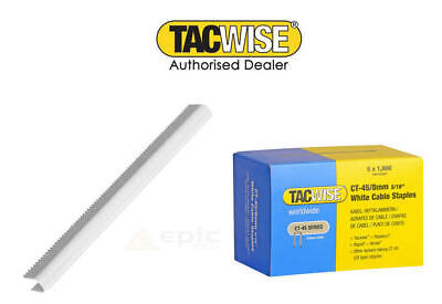 £3.99 • Buy TACWISE CT45 8mm OR 10MM WHITE OR GALV CABLE TACKER STAPLES  FITS CABLE TACKERS