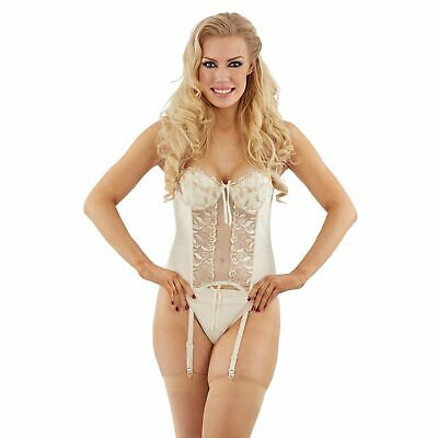 £15.95 • Buy Bridal Basque/Corset And Thong Lingerie/Underwear Set Ivory/Cream Select Size