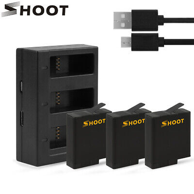 $ CDN50.51 • Buy Battery Three/Dual Ports USB Charger For GoPro Hero 7 6 5 Black Action Camera