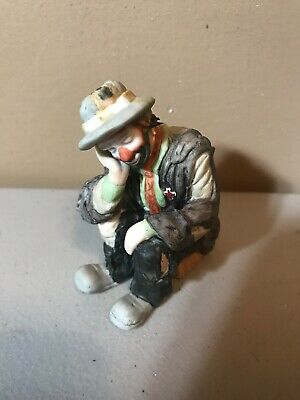 Melody in Motion WILLIE THE RIDER Porcelain Hobo Clown DOG Figurine NEW BOX 7310