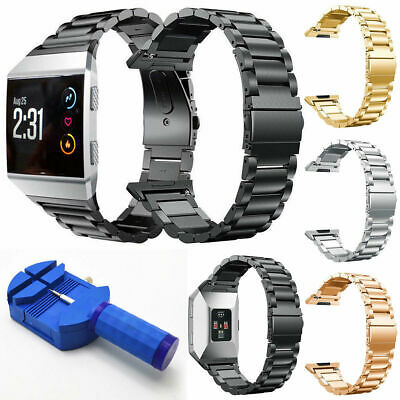 $ CDN19.57 • Buy For Fitbit Ionic Large Stainless Steel Folding Clasp Watch Wrist Band Strap