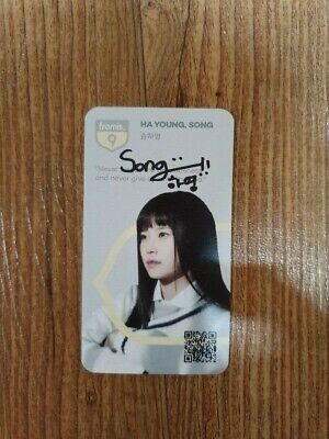$ CDN119.02 • Buy Fromis9 Broadcast Photocard Autographed Hand Signed Song HAYOUNG