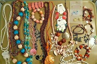 $ CDN50.20 • Buy Lot Of #32 Pc Tropical Bold BOHO Chunky Costume Jewelry JLove Lia Sophia