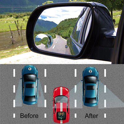 Universal Car Rear View Mirror 360° Rotating Wide Angle Convex Blind Spot Parts • 0.99$
