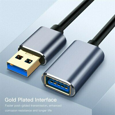AU8.39 • Buy USB 3.0 Male To Female SuperSpeed Data Sync Fast Charging Extension Cable