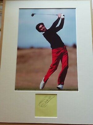 SEVE BALLESTEROS Golfer Hand SIGNED Page From Autograph Bk MOUNTED With A4 Photo • 180£