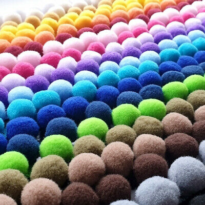 Pom Pom 10mm Ball Trim Width 18mm Luxury Velvet Feel 14 Colours ✄ Cut To Order ✄ • 2.01£