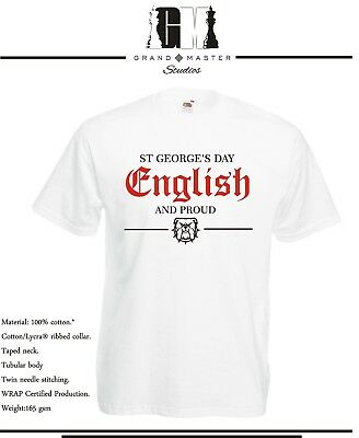 St George's Day - English & Proud Mens & Ladies T-shirts - Sizes S - Xxl  • 9.99£