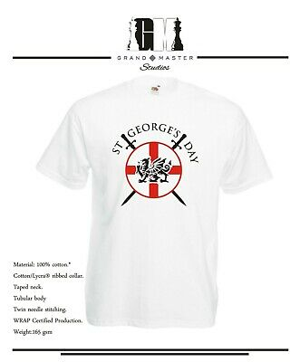 St George's Day - Circular England Shield And Dragon Lady Fit & Unisex T-shirts • 9.99£