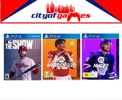 MLB The Show 19  Madden NFL 20 & NHL 20 PS4 Game Bundle Brand New In Stock • 199.95AU